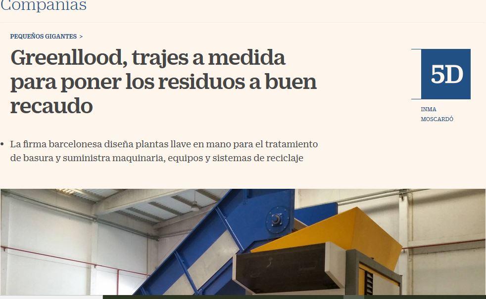 Greenllood en El País, Cinco Dias